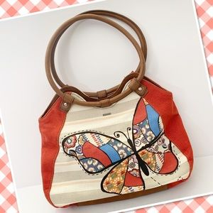Relic purse tote handbag Butterfly boho
